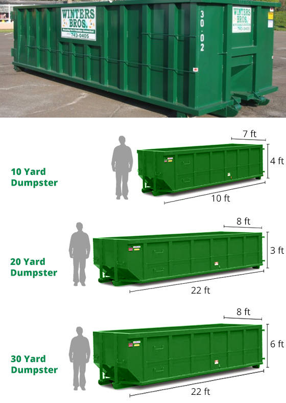 Dumpster Rental Roll Off Containers Winters Bros Long