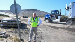 Will Flower, vice president of Winter Bros., outside the Brookhaven landfill in Yaphank