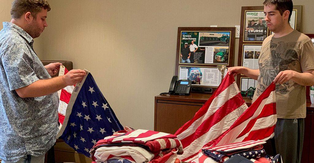 Winters Bros. folding flag